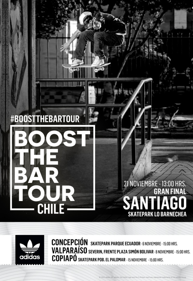 adidas skateboarding Chile - Boost The Bar Tour - Afiche