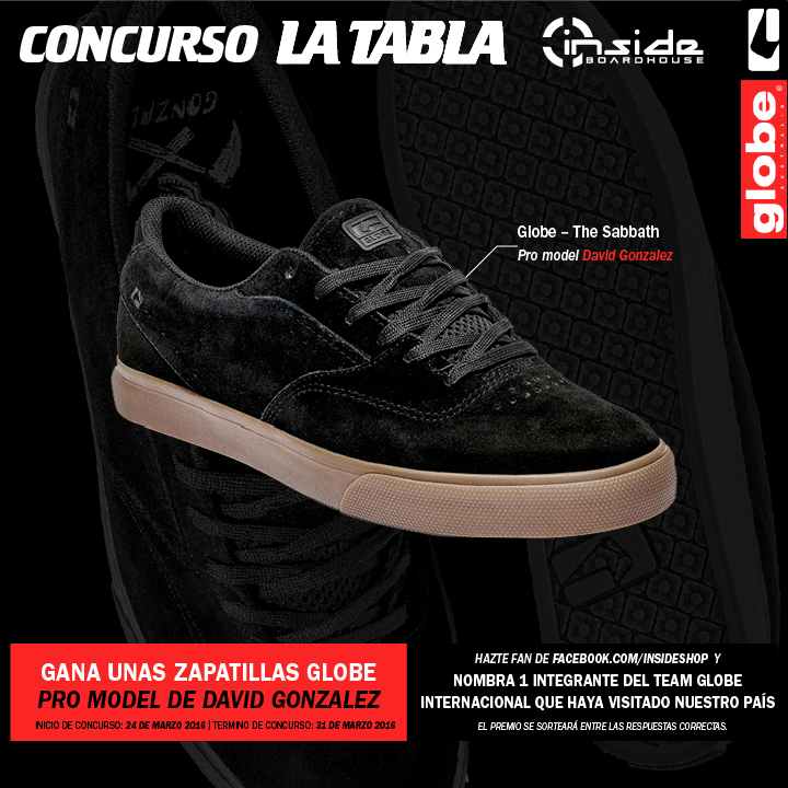 CONCURSO LATABLA - zapatillas GLOBE SHOES por Inside Boarshop - Marzo 2016