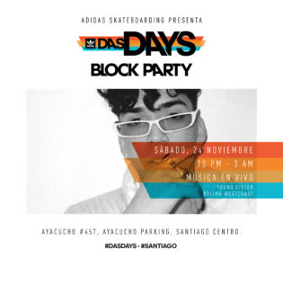 adidas Skateboarding Das Days Santiago - Block Party