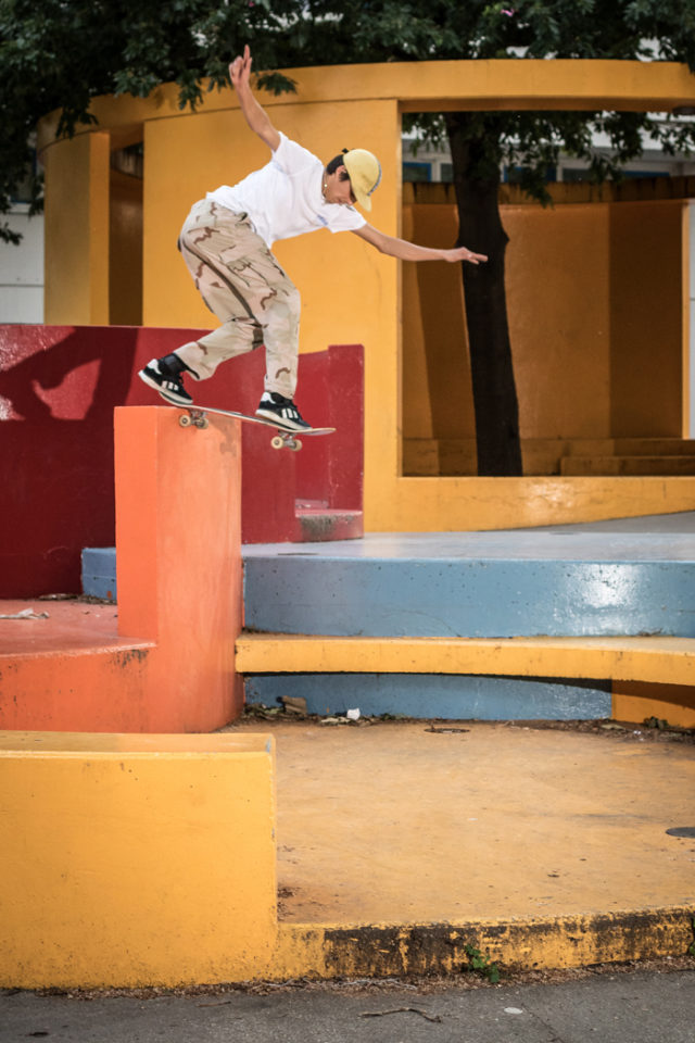 Backside tailslide shove-it en Ivry.